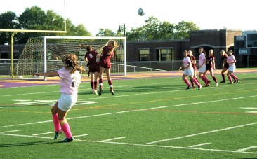 Dianna Constantine with a corner kick