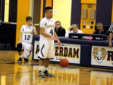 Kory Bergh bringing the ball up court