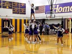 AHS cheerleadeers perform at halftime