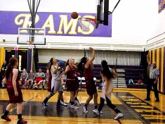 Pritchard #23 positions for a rebound