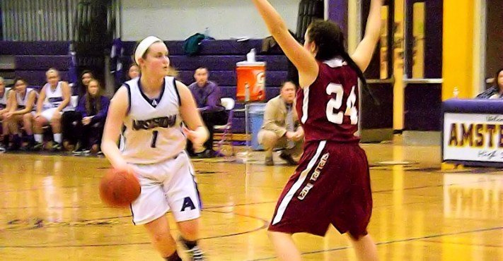 Maria Lamonto #1 guarded by #24 Alayna Landolfo