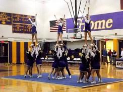 AHS cheerleaders at halftime