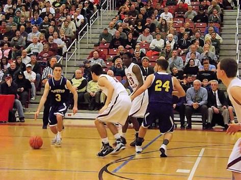 Andrew Druziak with the ball