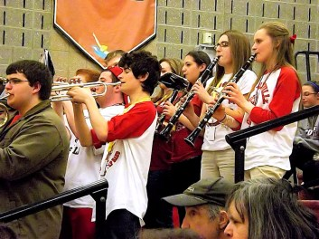 The Scotia-Glenville pep band