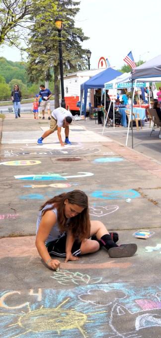 Sidewalk chalk art content