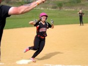 Kayla Giglio rounding third headed home
