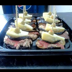 Grilled Eggplant and Prosciutto Stack. Photo provided