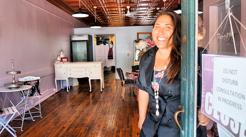 Gina-Marie Semkiw, owner of Gina-Marie Cake Boutique. Photo by Tim Becker.