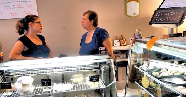 Brooke Ayala, Dawn Jobin, Owners of Nana's Bakerz Dozen. Photo by Tim Becker