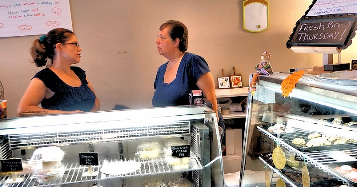 Brooke Ayala, Dawn Jobin, Owners of Nana's Bakerz Dozen. Photo by Tim Becker