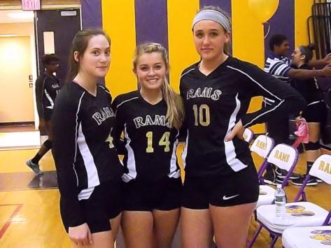 AHS seniors (from left) Alanna Kaminski, Danielle Heck, and Jessica Anderson