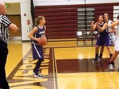Lucia Liverio inbounding the ball