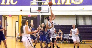 Nina Fedullo goes up for two points