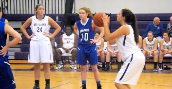 Giuliana Pritchard at the free throw line