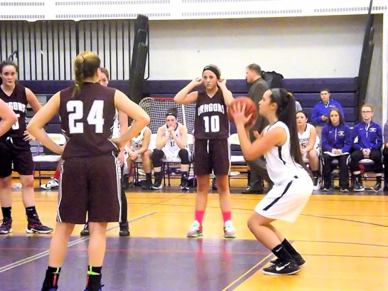 Grace Catena at the free throw line