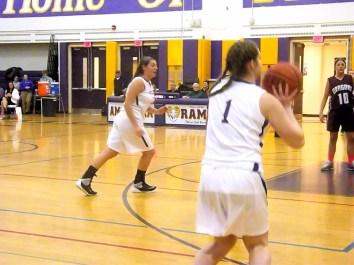 Maria Lomanto lines up a three pointer