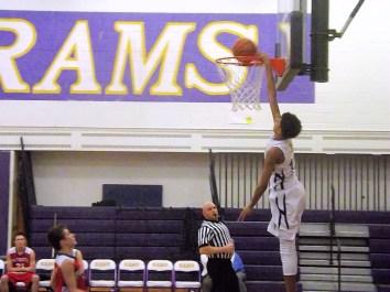 A dunk by AHS JV team member Andre Jackson