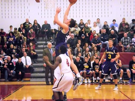 Keenan Holloway goes up for two