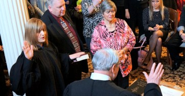 Lisa Lorman sworn in as full time city court judge