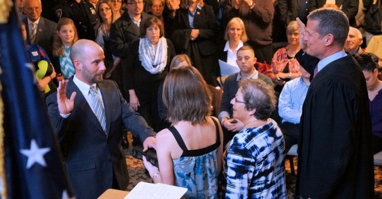 Matt Agresta sworn in as controller