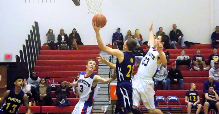 Art Aufeld (AHS JV) goes to the rim
