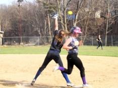 Martina Hughes beats the throw