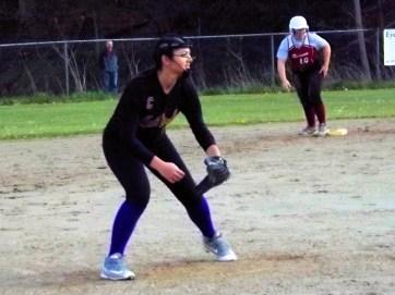 Morgan Durnick at third base