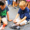 Students learn programming and engineering skills at robotics class