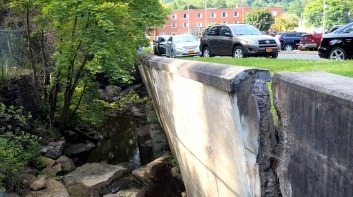 Dove Creek retaining wall at St. Mary's Hospital