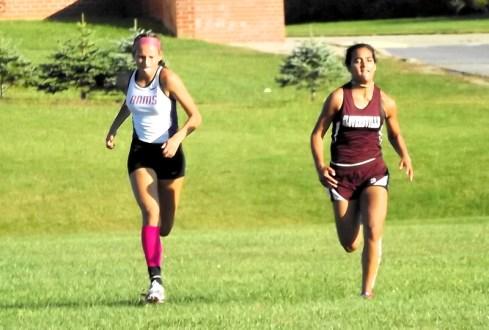Lauren Santiago races Rhea Winter