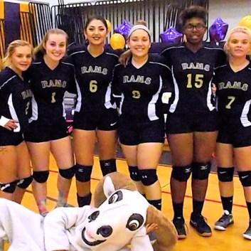 AHS volleyball team seniors
