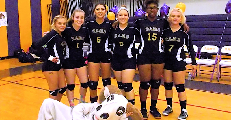 Lady Rams volleyball prevails on senior night
