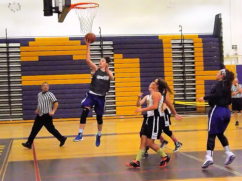 Nina Fedullo goes in for a lay up