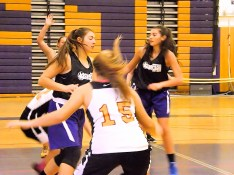 Giuliana Pritchard stops a drive by an opposing player