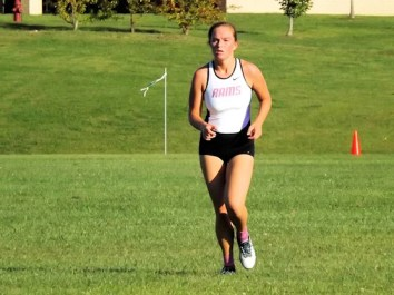 Kayla Dzikowicz at 2016 AHS cross country meet