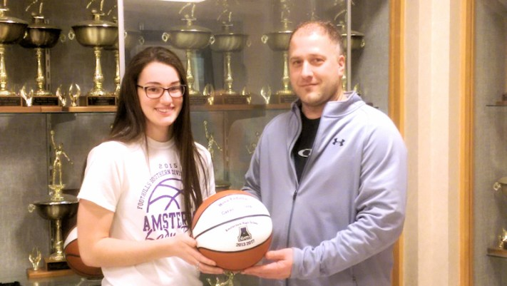 Nina Fedullo, Coach Eric Duemler. Photo provided.