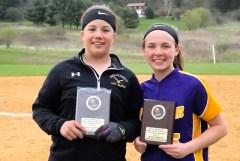Sierra Rose and Megan Lamont, tournament MVP's
