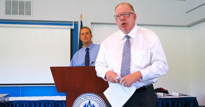 Montgomery County Executive Matt Ossenfort, Sennior Planner William Roehr