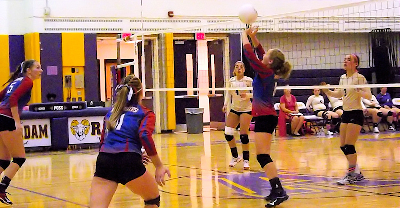 Lady Patriots volleyball serve up win over Amsterdam