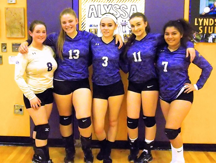AHS volleyball seniors 2017
