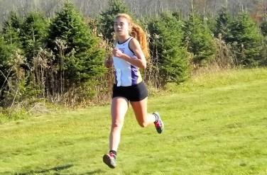 Olivia Lazarou heads to the finish