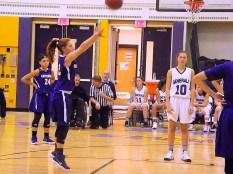 A free throw by Gianna Derosa