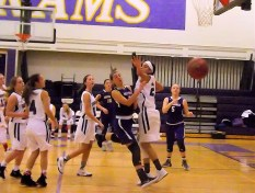 A pass by Giuliana Pritchard out to a guard at the corner baseline