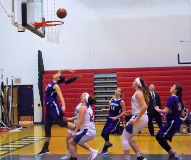 Giuliana Pritchard scores two of her game high 30 points