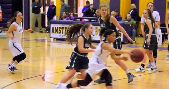Charli Beekman heads to the basket