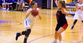 Giuliana Pritchard goes by a defender
