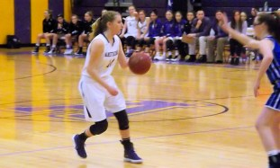 Lucia Liverio brings the ball down court