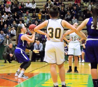 Taylor Flint at the line