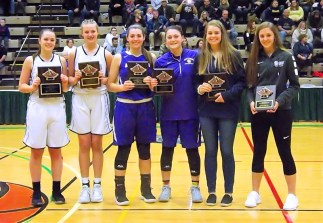 Class A girls all-tournament team