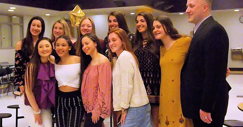 Lady Rams basketball program celebrates season, recognizes seniors at annual banquet